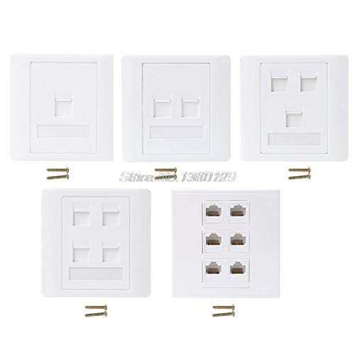 BIN BON - 86 Type Computer Socket Panel CAT5E Network Module RJ45 Cable Interface Outlet