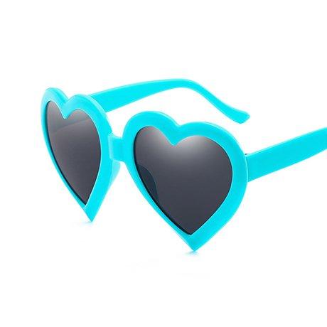 Red GGSSYY Gafas Rosa Heart de Eye Heart Love Rosa Blue Gafas sol Shape sol Mujeres Gift para de Negro Vintage mujeres fWfPr6wq7