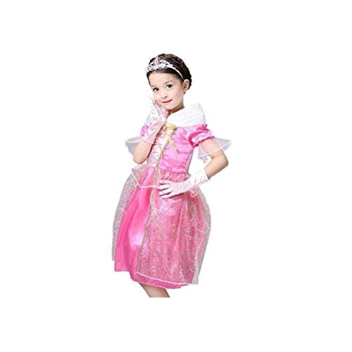 Peachi Disney Sleeping Beauty Princess Aurora/Briar Rose Costume for Girls M-XXL (XXL-8/10) ()
