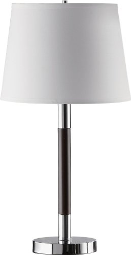 Coaster Home Furnishings 901488 Table Lamp with Chrome and Espresso Finished Base - Executive Coaster Set
