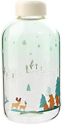 Creatividad y jarras de cerdo ciervos gradiente de dibujos animados botella agradable de 600 Naturaleza amantes de los deportes de botellas ml botella de Zakka,De bosques 600 ml