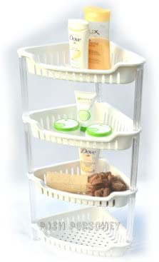 3 Layer Alumimum Bathroom Shower Storage Shelf Caddy Basket Tidy Organiser
