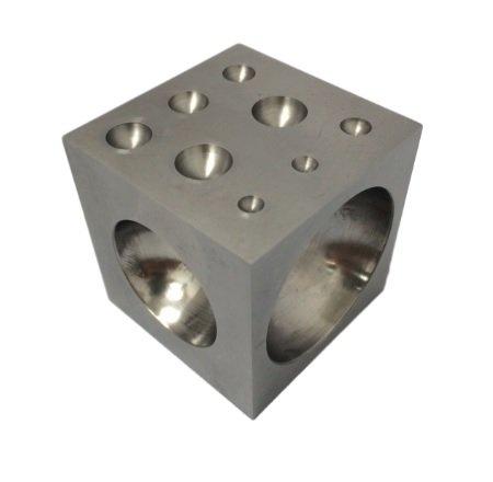 [해외]연마 된 강철 구멍으로 도핑 블록 2 x 2 x 2/Dapping Block with Polished Steel cavities 2  x 2  x 2