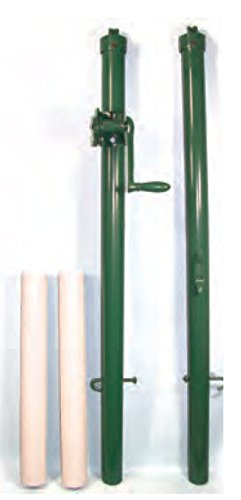 Har-Tru Tennis Court Accessories - Tennis Net - Pickleball/Paddle Post -Green by Har-Tru