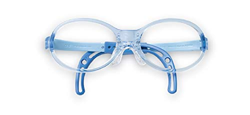Eyeglasses Frames for Babies & Toddlers,(TBAC1, 35X13, Blue), Light Weight, Comfortable Material, Highly Durable, Flexible, with Adjustable Nose Pad & Ear Tip, Shape intelligence and Resilience