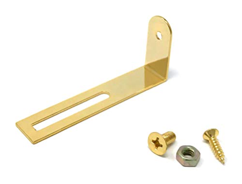 (Gold Pickguard Mounting Bracket for Gibson Epiphone Les Paul Electric Guitar with Screws by VINTAGE FORGE | LPB10-GLD)