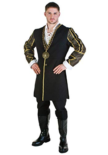 - Fun Costumes Men's King Henry VIII Costume Standard Black