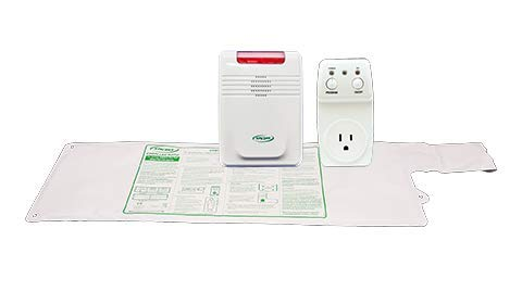 Smart Caregiver® Light Outlet with Cordless Bed Sensor Pad and Monitor - Turns on a light when they get up and alerts you in another - Bed Sensor