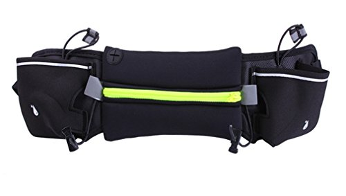 Jixin4you Sport Running Belt Water Resistant Fanny Pack Fit 4-6'' Phone Yellow