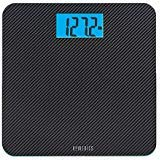 Homedics Carbon Fiber Glass Bathroom Scale, Large Platform Measures 13' Square, Accurate up to 400 Lbs
