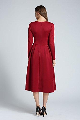 Damen kleider festlich wadenlang