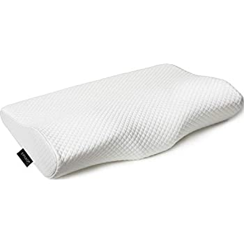 EPABO Contour Memory Foam Pillow Orthopedic Sleeping Pillows, Ergonomic Cervical Pillow for Neck Pain - for Side Sleepers, Back and Stomach Sleepers, Free Pillowcase Included (Soft & Queen Size)
