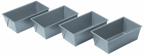 Chicago Metallic Commercial II Non-Stick Mini Loaf Pans, Set of 4 (Loaf Commercial Pan)