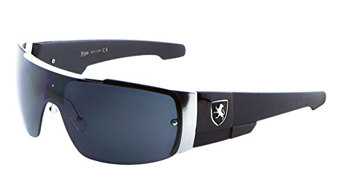 Khan Men's Flat Top Sports Shield - Sport Sunglasses Top
