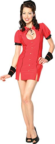 Cinema Secrets Women's Bell Hop Bettie Costume Small Red -
