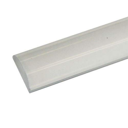 1 Wide by 1/2 High - Clear Acrylic Frameless Shower Threshold - 35 in long