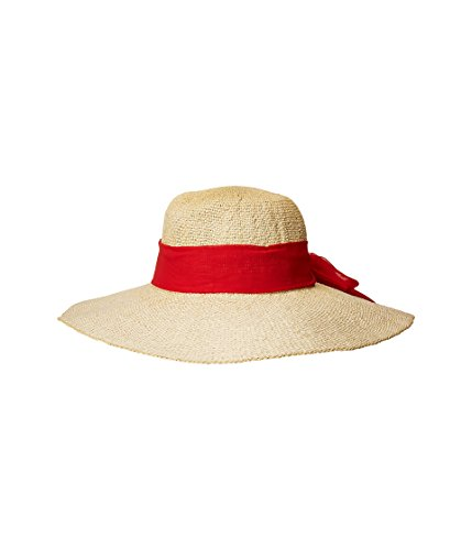 (San Diego Hat Company Women's PBL3096OS Woven Paper Floppy w/Scarf Bow Trim Red One Size)