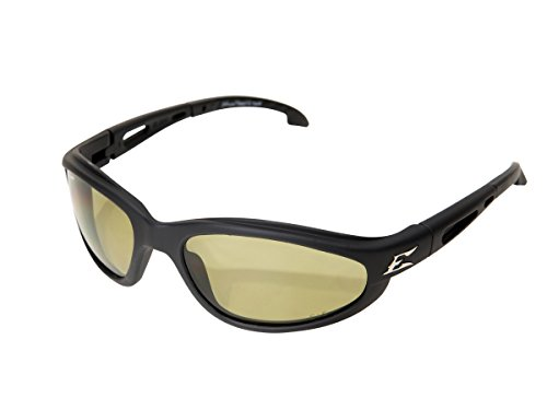 Edge Eyewear TSM212 Dakura Polarized Safety Glasses, Black with Yellow Lens
