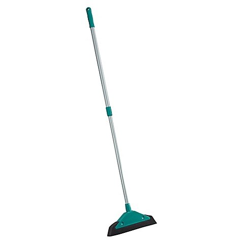 Leifheit Soft & Easy Foam Broom | Foam head attracts and traps fine dust, hair, and dander | Rinse head clean