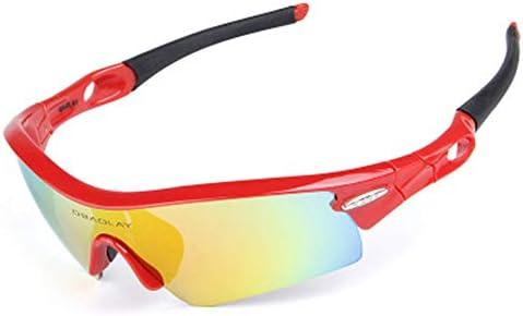 サイクリング中に自転車用ゴーグルを運転するための5つの交換レンズを備えた偏光サングラス