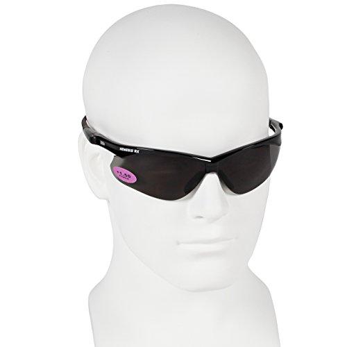 - Jackson Nemesis Bifocal Safety Glasses - Black Frame 1.5 Smoke Lens, Neck Cord, and Lens Cleaning Bag