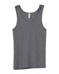 Bella Ladies Wide straps Self - binding on Neck and Armholes Rib Tank - Deep Heather - Large