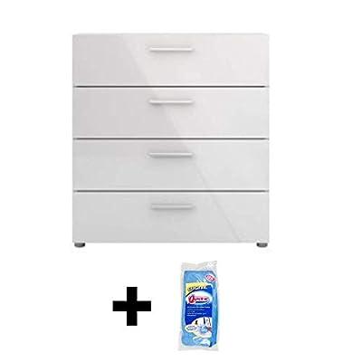 Tvilum 705054949 Austin 4 Drawer Chest + Free Furniture Wipes by Tvilum