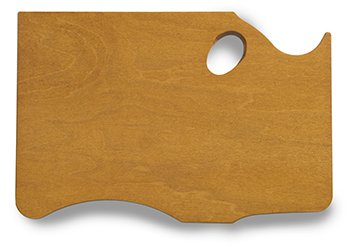 New Wave Palette, Highland Maple Wood, Hold in Left Hand (00301) by New Wave