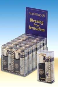 Bénédiction de Jérusalem - Onction 8 ml d'huile avec messianique certificat et écritures