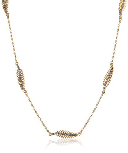 """Juicy Couture Feather Strand Necklace, 34"""""""