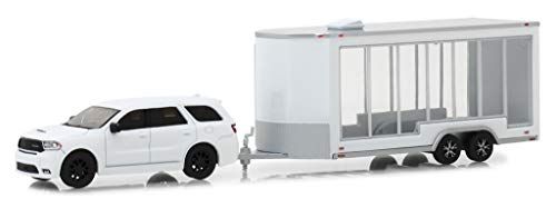 2018 Dodge Durango R/T with Glass Display Trailer White Hitch & Tow Series 15 1/64 Diecast Models by Greenlight 32150 D