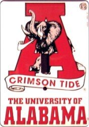 Alabama Light Switch Cover (Dixie LS-10067 University of Alabama Crimson Tide Metal Novelty Light Switch Cover Plate)