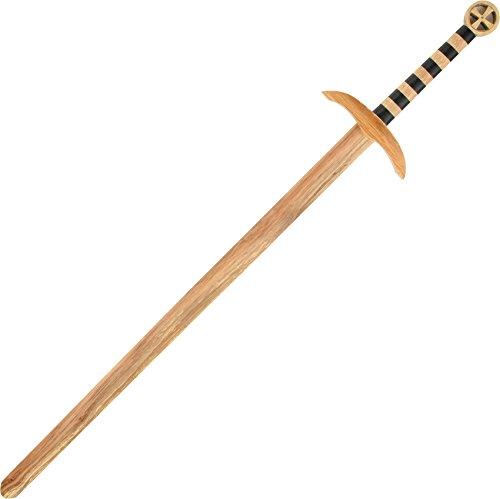 Robin Hood Weapons - 47 Inch Wooden Medieval Crusader Practice Waster Sword
