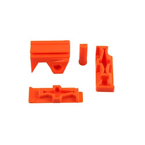 Front Rail Side (Worker Mod Front and Side Rail Adapter Picatinny Base Set for Nerf Stryfe Color Orange)