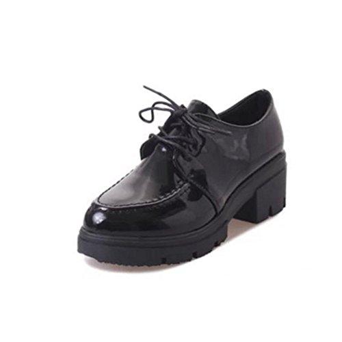 suela con A de otoño casuales tacones del En gruesa estudiante Inglaterra primavera con gruesos zapatos y zapatos Zapatos de Y1xCzqwS