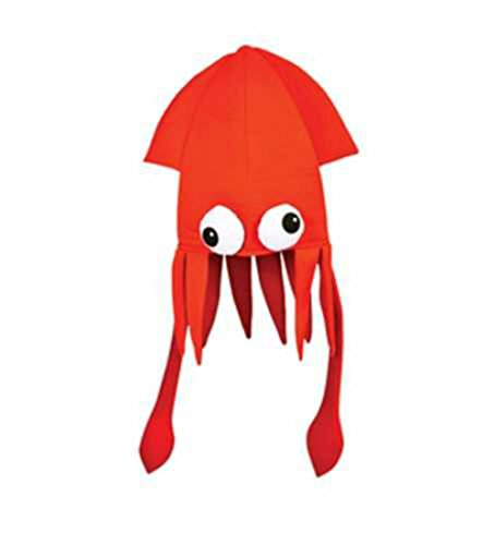 (Play Kreative Beautiful Costume Squid Party Hat - Choose Your Color TM)
