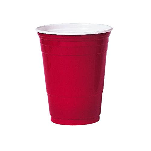 Plastic Party Cold Drink Cups, 16 oz., Red, 1000 Per Case