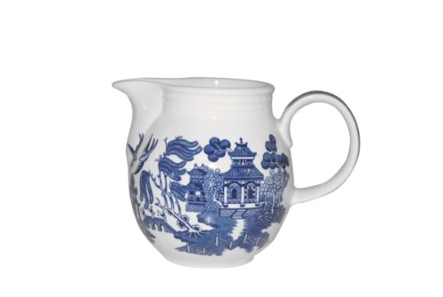 - Churchill Blue Willow Milk Jug 30-ounce