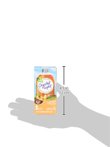 Crystal Light On the Go, Peach, 10 Count 0.7 Ounce, (Pack of 12)