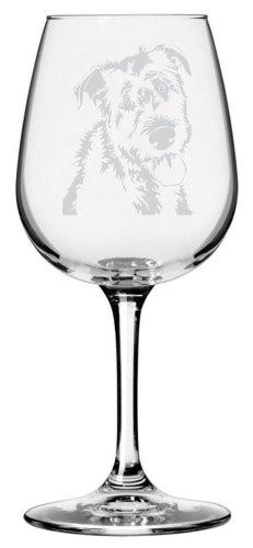 Irish Wolfhound Dog Themed Etched All Purpose 12.75oz Libbey Wine Glass