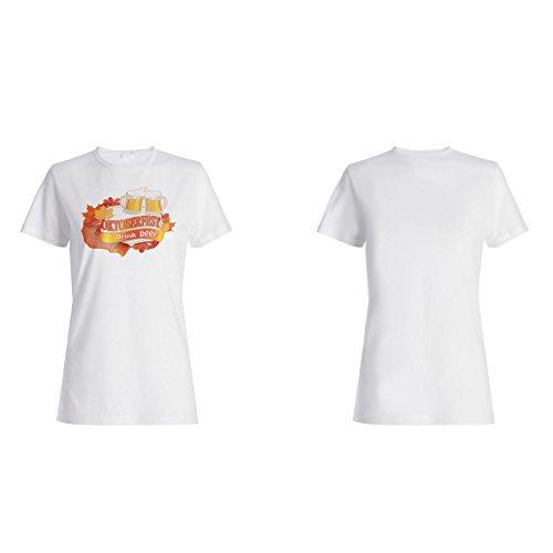 Neues Oktoberfest Bier Damen T-shirt l916f