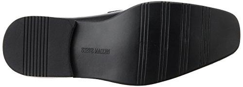 Steve Madden Cirka Hommes Noir Cuir Chaussures Mocassins Pointure EU 41