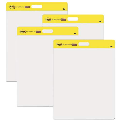 Self-Stick Wall Pad, Plain, 20 Shts ,20''''x23'''', 2/PK, White, Sold as 1 Package, 2 Each per Package