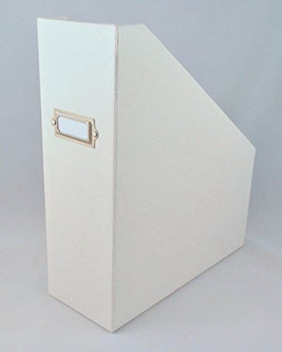 Martha Stewart Home Office with Avery Stack+Fit Shagreen Magazine File, White