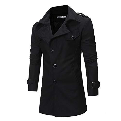 ' Outwear Cappotti yesmile Inverno Button Camicetta Da E Trench Autunno S Men Uomo Nero Lunga Giacche Cappuccio Manica Inverno Cappotto Jacket Con RAXawn