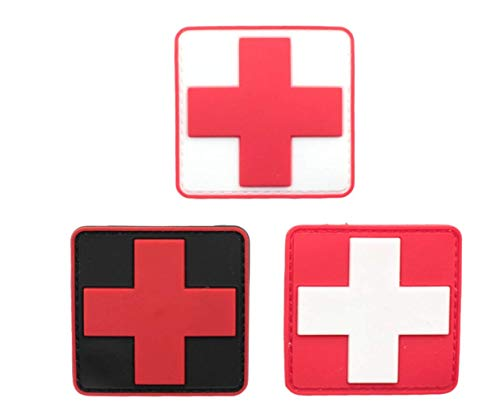 dic Red Cross Tactical PVC Rubber Patches with Backing Appliques 2.35