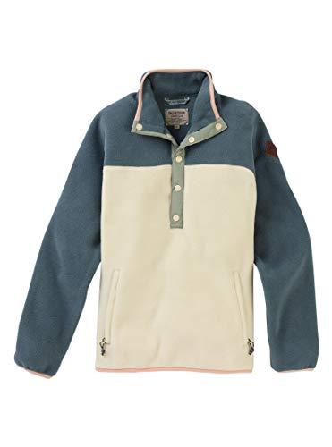 - Burton Sports_Apparel Hearth Fleece Pullover, Dark Slate/Creme Brulee, Small