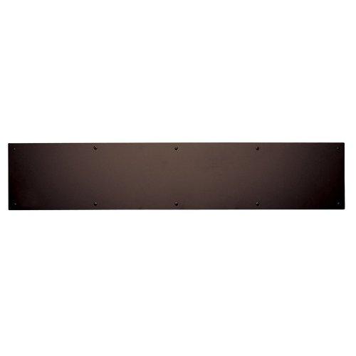 Baldwin 20001120830 Venetian Bronze 8 Inch x 30 Inch Solid Brass Kick Plate - Solid Brass Kick Plate