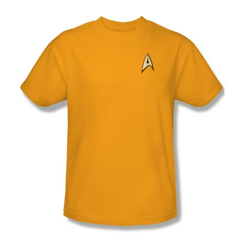 Star Trek Command Gold Uniform T-Shirt XL]()