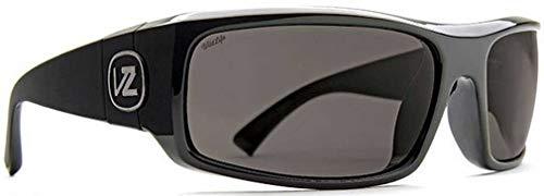 VonZipper Unisex Kickstand Polarized Black Gloss/Vintage Grey Wildlife Polarized Lens One Size